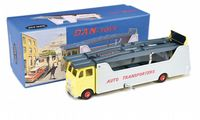 DAN Toys Dinky re-creation Leyland Beaver Auto Service Car Carrier in Grey and Yellow
